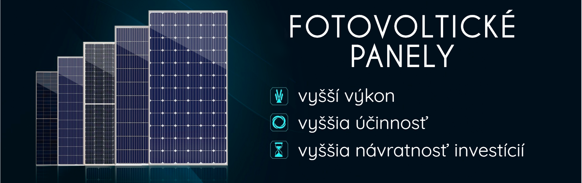 Banner fotovoltické panely
