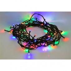 Solight LED vonkajšia vianočná reťaz, 100 LED, 10m, prívod 3m, 8 funkcií, časovač, IP44, viacfarebný