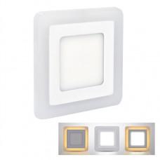 Solight LED podsvietený panel, podhľadový, 6W + 3W, 400lm, 4000K, štvorcový