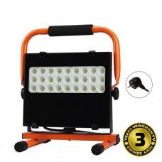 Solight LED vonkajší reflektor so stojanom, 30W, 2550lm, 5000K, kábel so zástrčkou, AC 230