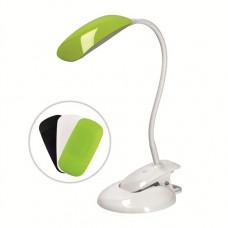 Solight LED stmievateľná lampička 2v1, podstavec aj klip, 5W 4000K, 3 farebné kryty