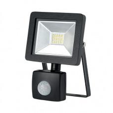 Solight LED vonkajší reflektor SLIM, 10W, 700lm, 3000K, so senzorom, čierny