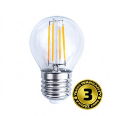 Solight LED žiarovka retro, miniglobe 4W, E27, 3000K, 360°, 440lm