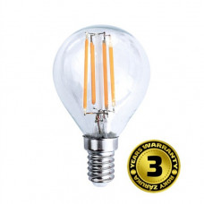 Solight LED žiarovka retro, miniglobe, 4W, E14, 3000K, 360°, 440lm