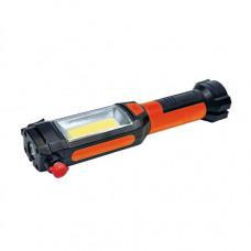 Solight multifunkčné LED svetlo, 3W COB + 1W LED, klip, magnet, flexibilné, 3x AAA