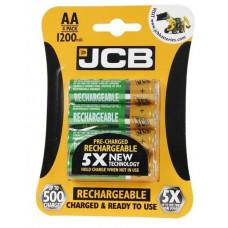 Nabíjacie batérie JCB RTU NiMH AA/R06, min.1200mAh, prednabitá, blister 4 ks