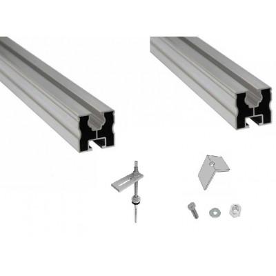 Nosná konštrukcia pre 2 kolektory KSG21 na šikmú strechu pokrytú plechom