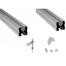 Nosná konštrukcia pre 5 kolektorov KSG21 na šikmú strechu pokrytú plechom