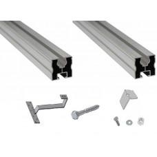 Nosná konštrukcia pre 3 kolektory KSG21 na šikmú strechu pokrytú škridlou