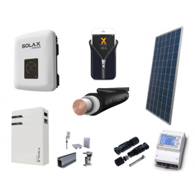 Fotovoltický systém HYBRID výkon 3 kW, 1 fáza, batérie 4,5 kWh