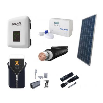 Fotovoltický systém ONGRID výkon 3 kW s ohrevom vody, 1 fáza